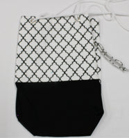 Black and White Geometric 15x14 bag, 9x16 bag, 7x14 bag