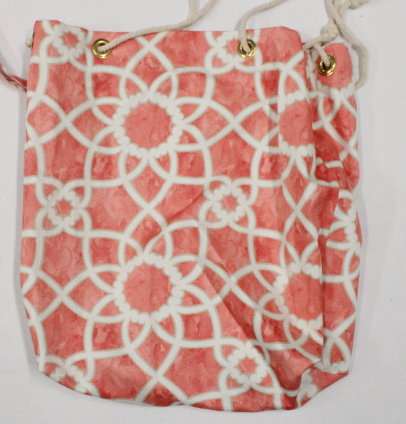 Peach and Gray Geometric Bags 15x14 Bag, 9x16 Bag, 7x14 Bag