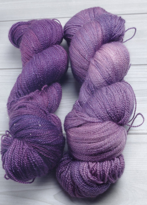 Awareness Purple- Merino/Silk/Stellina Lace 75/20/5