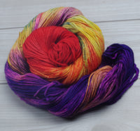 Mayvara, Dragoness of the Sun - Superwash Bluefaced Leicester DK