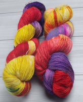 Mayvara, Dragoness of the Sun - Superwash Bluefaced Leicester/Firestar Fingering/Sock