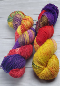 Mayvara, Dragoness of the Sun - Superwash Bluefaced Leicester Fingering/Sock