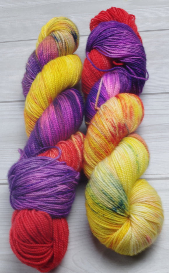Mayvara, Dragoness of the Sun - Superwash Merino/Nylon Fingering/Sock