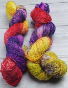 Mayvara, Dragoness of the Sun - Superwash Merino/Stellina Singles Fingering/Sock