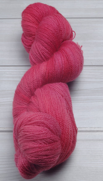 Strawberry Wine - Superwash Bluefaced Leicester Lace