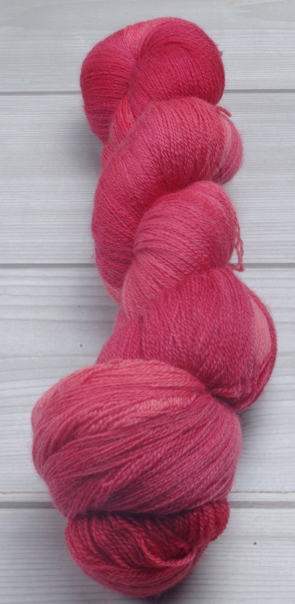 Strawberry Wine - Superwash Merino Lace