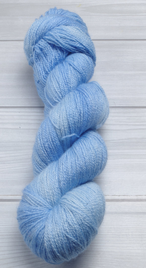 Summer Sky - Superwash Bluefaced Leicester Lace