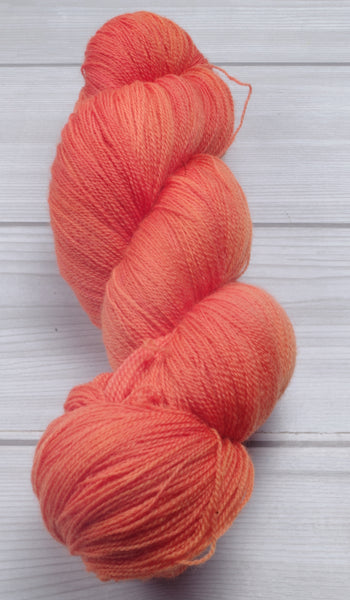 Tangerine - Superwash Merino Lace