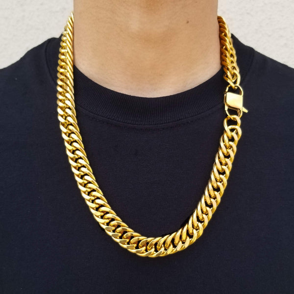14K Gold Double Cuban Chain  -Custom Hip-Hop Jewelry