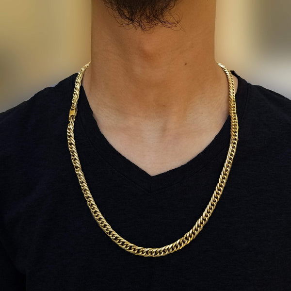 14K Gold Double Cuban Chain-King's Jewelers-Custom-Hip-Hop-Jewelry