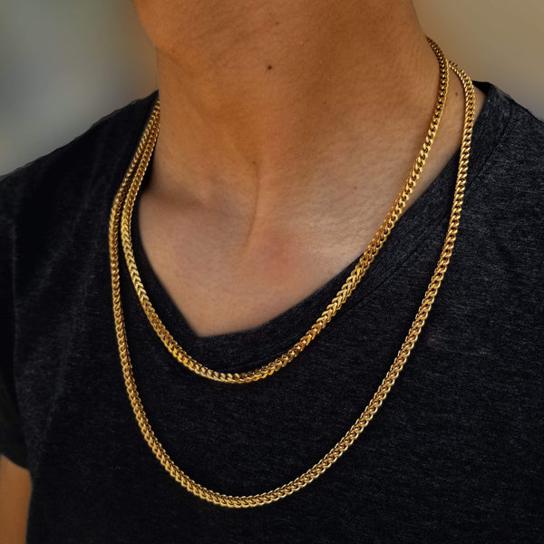 14K Gold Franco Chain-King's Jewelers-Custom-Hip-Hop-Jewelry