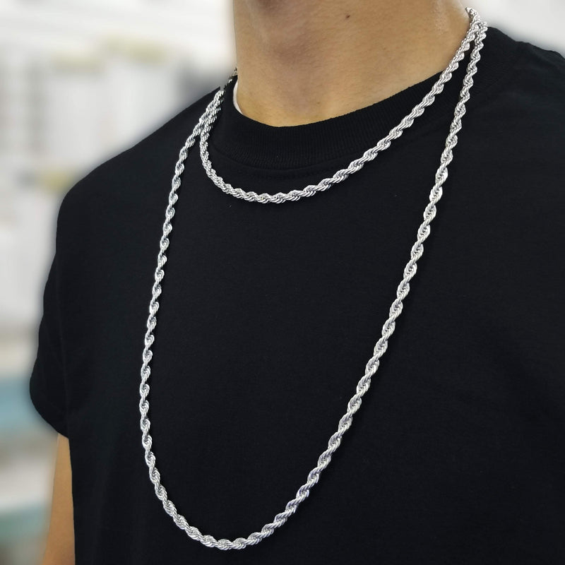 14K White Gold Rope Chain-King's Jewelers-Custom-Hip-Hop-Jewelry