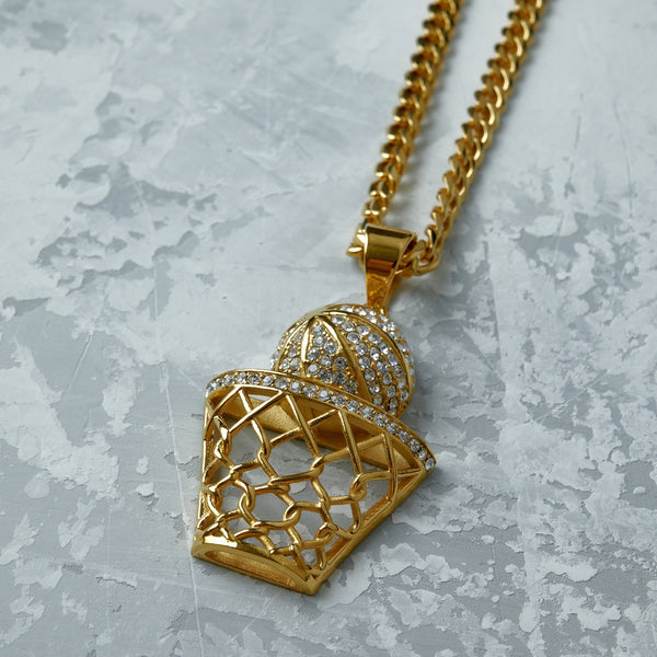 Golden Basketball Net Necklace