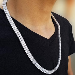 2 Row Iced Out White Gold Tennis Chain-King's Jewelers-Custom-Hip-Hop-Jewelry