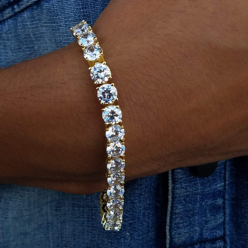 8MM Gold Tennis Bracelet-King's Jewelers-Custom-Hip-Hop-Jewelry