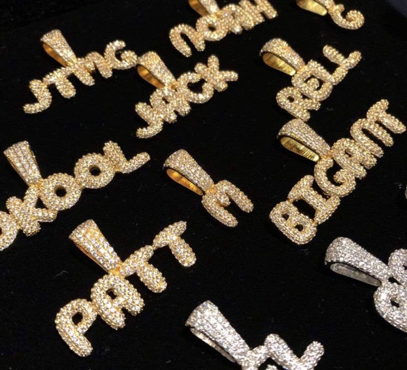 Custom Bubble Letter Pendant-King's Jewelers-Custom-Hip-Hop-Jewelry