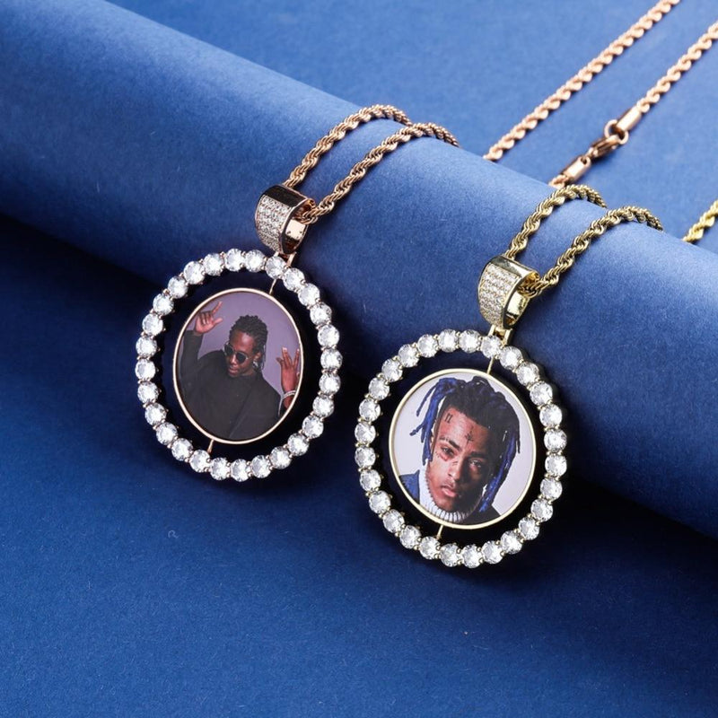 Custom Spinning Photo Pendant-King's Jewelers-Custom-Hip-Hop-Jewelry