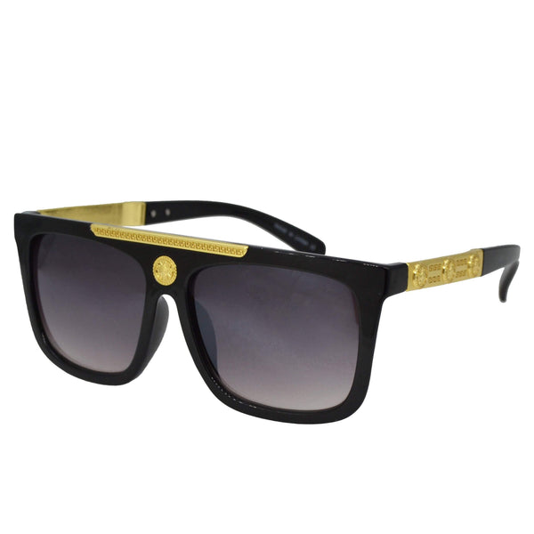 Gold Black Sunglasses-King's Jewelers-Custom-Hip-Hop-Jewelry