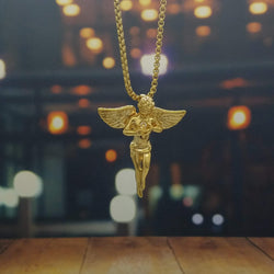 Golden Angel Pendant-King's Jewelers-Custom-Hip-Hop-Jewelry