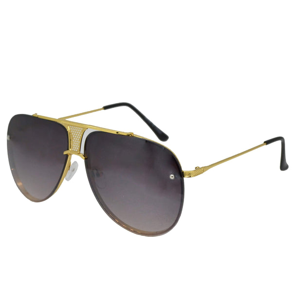 Golden Aviator Sunglasses-King's Jewelers-Custom-Hip-Hop-Jewelry