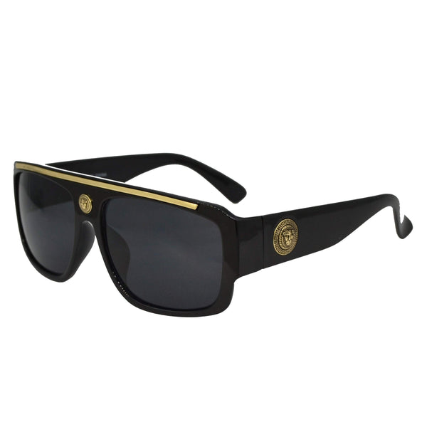 Golden Black Sunglasses-King's Jewelers-Custom-Hip-Hop-Jewelry