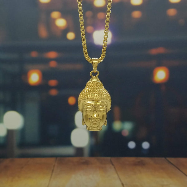 Golden Buddha Necklace-King's Jewelers-Custom-Hip-Hop-Jewelry