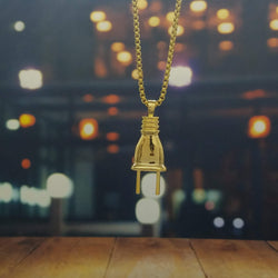 Golden Plug Necklace-King's Jewelers-Custom-Hip-Hop-Jewelry