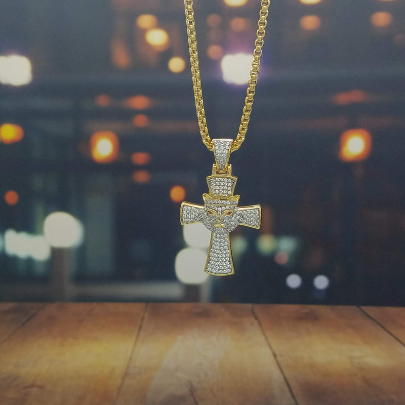 Iced Out Cross Necklace-King's Jewelers-Custom-Hip-Hop-Jewelry