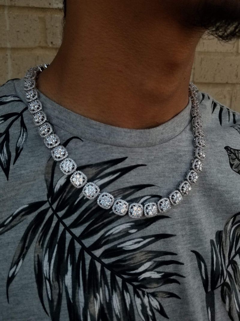 Iced-Out Square Diamond Necklace-King's Jewelers-Custom-Hip-Hop-Jewelry