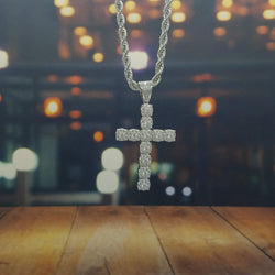 Icy Cross Necklace-King's Jewelers-Custom-Hip-Hop-Jewelry