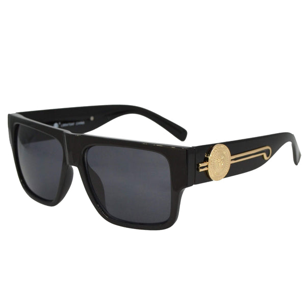 MI Solid Black Sunglasses-King's Jewelers-Custom-Hip-Hop-Jewelry