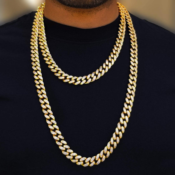 Single Tone Gold Cuban Link Choker-King's Jewelers-Custom-Hip-Hop-Jewelry
