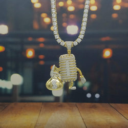 Walking Diamond Man Necklace-King's Jewelers-Custom-Hip-Hop-Jewelry