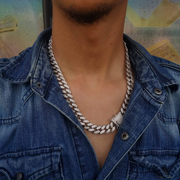 White Gold Cuban Choker-King's Jewelers-Custom-Hip-Hop-Jewelry