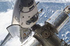 Space Shuttle Atlantis at ISS
