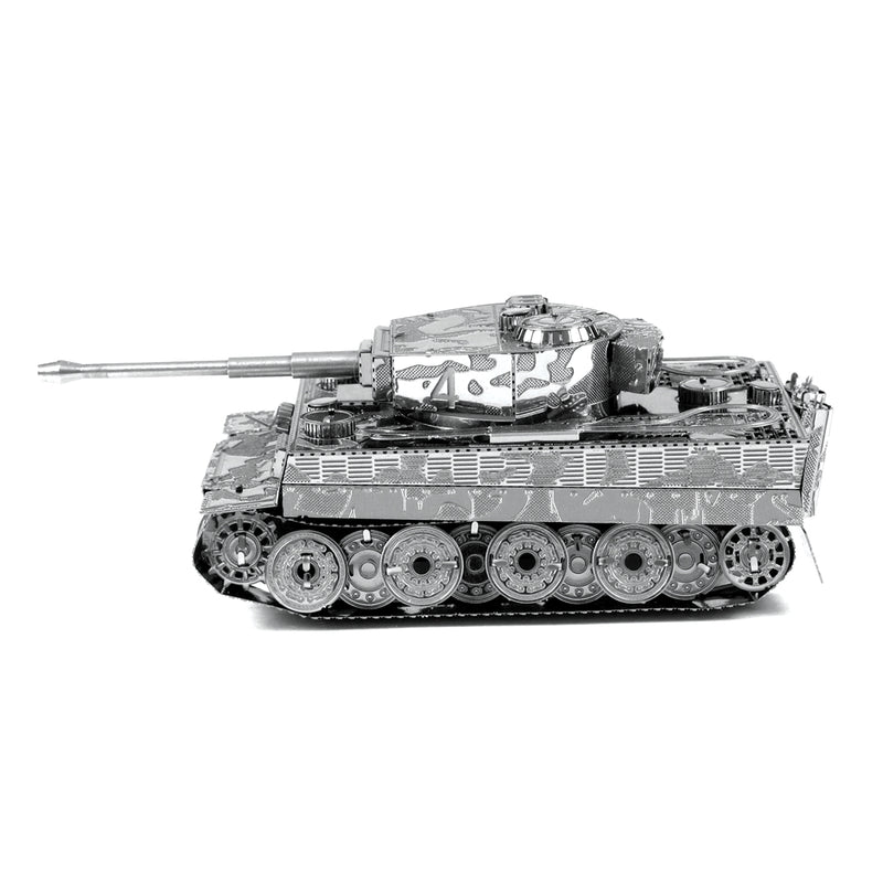 Tiger I Tank Metal Earth Model Kit Side View