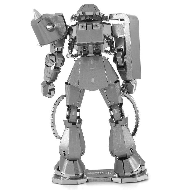 Gundam MS-06 Zaku II Metal Earth Iconx Model Kit Rear View