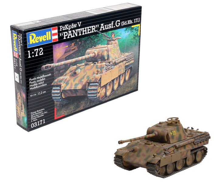 PzKpfw V Panther Ausf. G 1/72 Scale Model Kit By Revell Germany