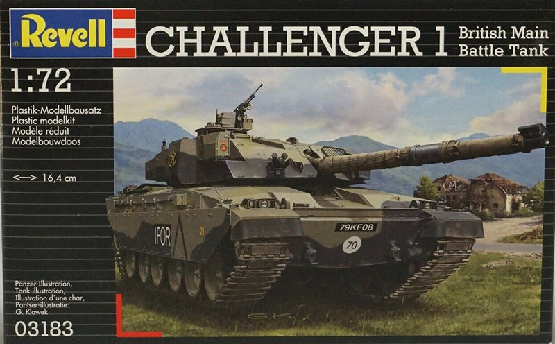 Challenger 1 British Main Battle Tank 1/72 Scale Model Kit By Revell Germany