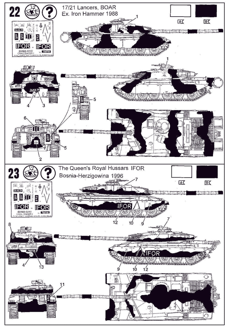 Challenger 1 British Main Battle Tank 1/72 Scale Model Kit By Revell Germany Instructions page 10