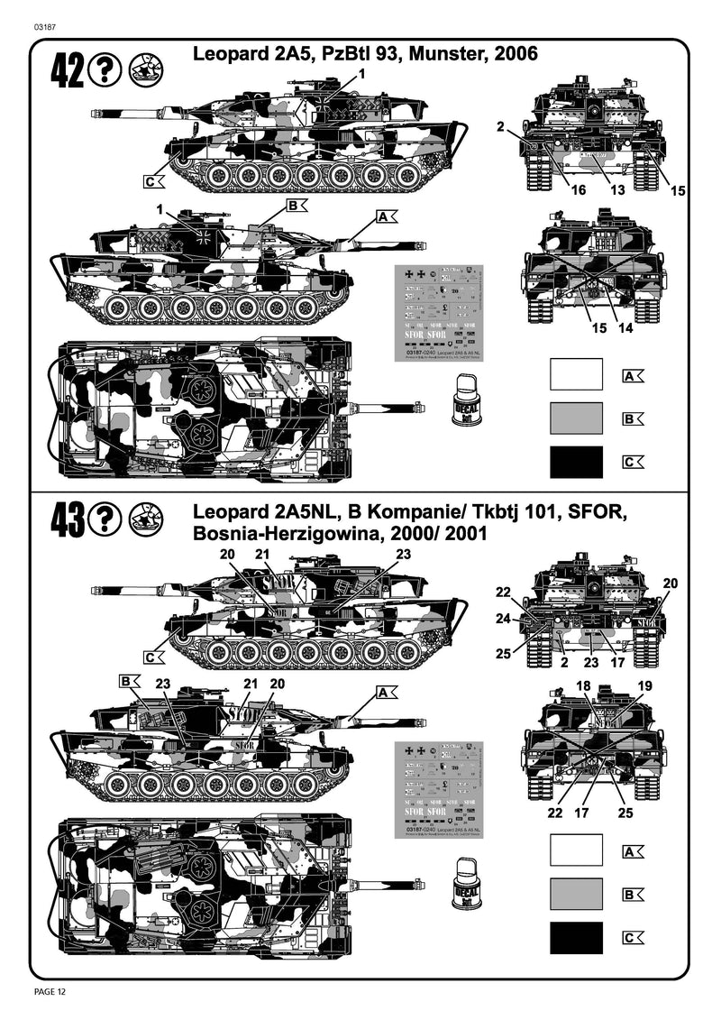 Leopard 2A5/A5NL Main Battle Tank 1/72 Scale Model Kit By Revell Germany Insurrections  Page 12