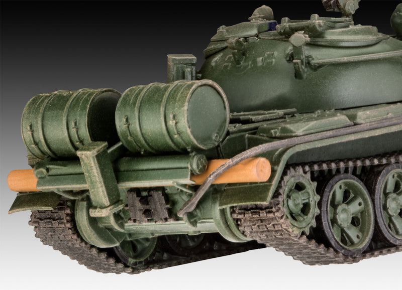 T-55A/AM with KMT-6/EMT-5 1/72 Scale Model Kit Rear Detail