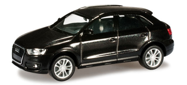 Audi Q3 Phantom Black Metallic 1:87 (HO) Scale Model By Herpa