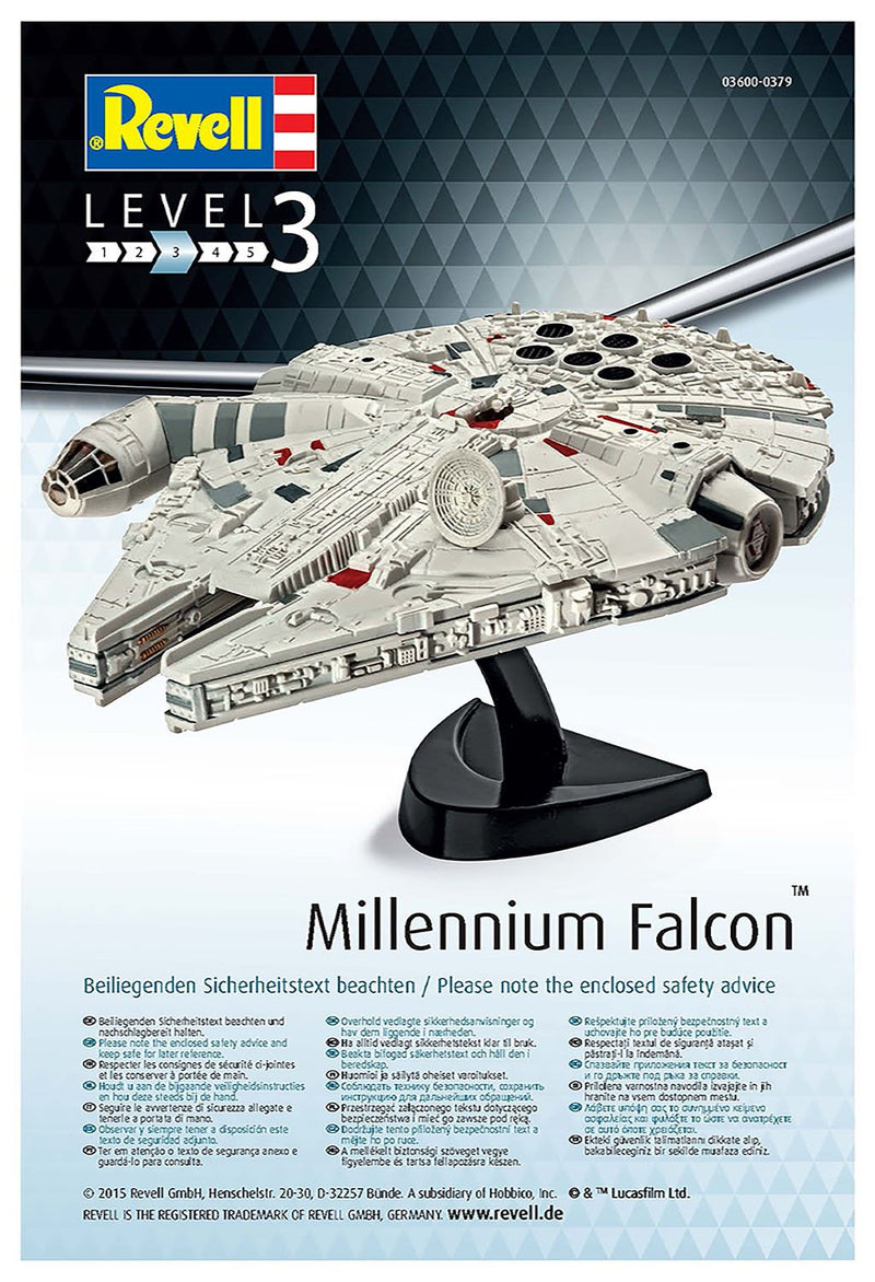 Star Wars Millennium Falcon 1/241 Scale Model Kit By Revell Germany Instructions Page 1