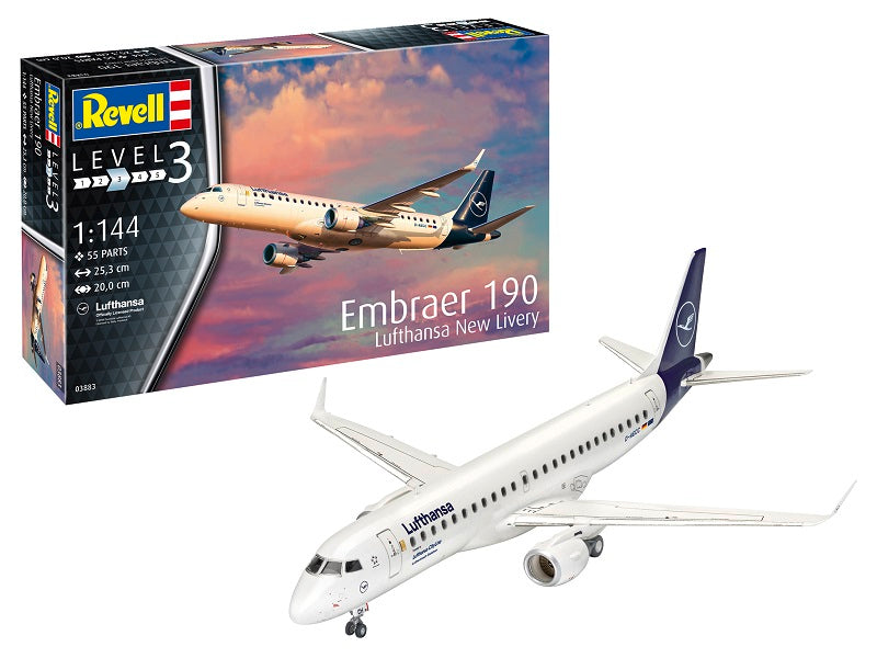Embraer E190 Lufthansa 1/144  Scale Model Kit By Revell Germany