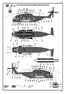 Sikorsky CH-53G Helicopter German Army 1/144  Scale Model Kit Instructions Page 7