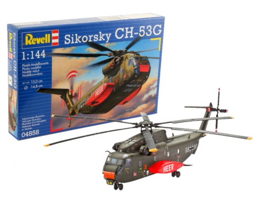 Sikorsky CH-53G Helicopter German Army 1/144  Scale Model Kit By Revell Germany
