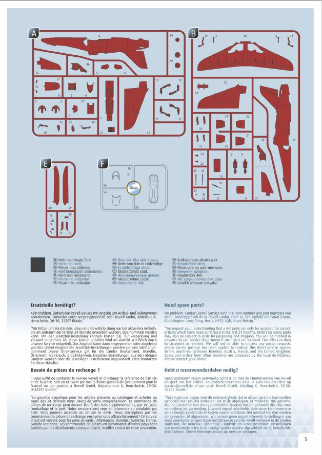 BAe Hawk T.1 Red Arrows 1/72 Scale Model Kit Instructions Page 5