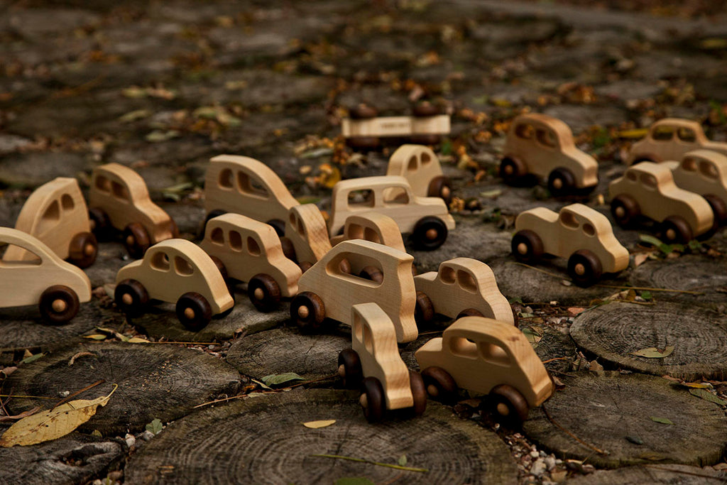 Natural Colored Wood Toy Cars By Wooden Story