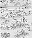 Prinz Eugen German Heavy Cruiser 1:700 Scale Model Kit Instructions Page 4